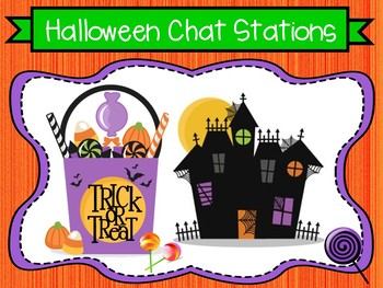 Spooky Halloween Chat Stations Story Scenarios