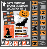 Halloween Decorations | Spooky Classroom Kit