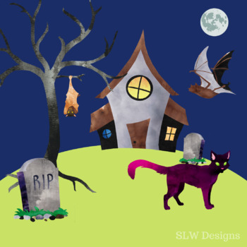 Spooky 'Halloween' Clipart Set - 15 Images