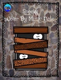 Spooky Halloween Color By Music Note Rhythm Coloring - Qua