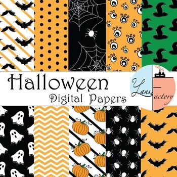 Spooky Halloween Digital Paper < 2 Sizes - 2 options >