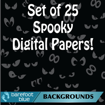 Spooky Halloween Digital Papers/Backgrounds