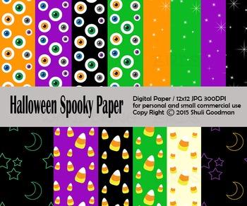 Spooky Halloween Digital paper set