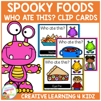 Spooky Halloween Food Clip Cards
