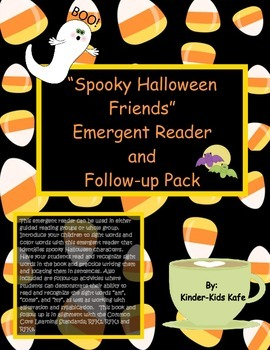 Spooky Halloween Friends Emergent Reader