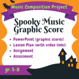 Spooky Halloween Graphic Score – Composition Lesson, Project & Assessment Tools