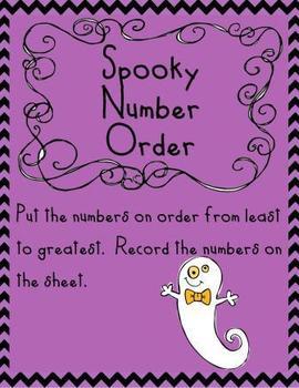Spooky Halloween Math Centers