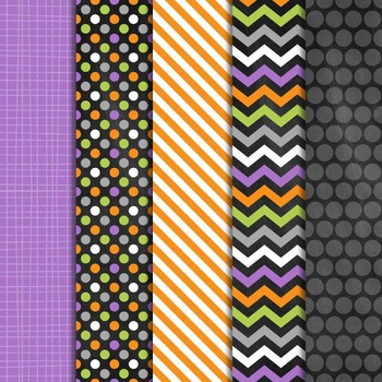 Digital Paper and Frame Mini Set Halloween