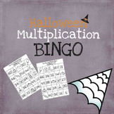 Halloween Multiplication Bingo