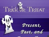 Spooky Halloween: Past, Present, and Future Tense Verb Powerpoint