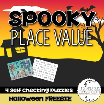 Halloween Puzzles -- Place Value