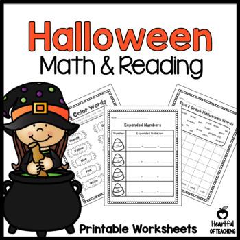 Halloween Math & Reading Activities