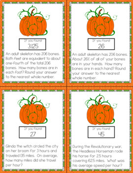 Halloween Math Word Problems