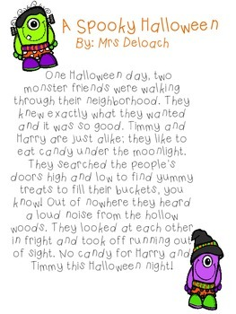 Spooky Halloween Short Stories by Onecoolteacher | TpT