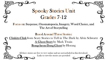 Halloween 3 Short Stories Unit for Clinkity-Clink, A Ghost Story, Bongcheon-Dong