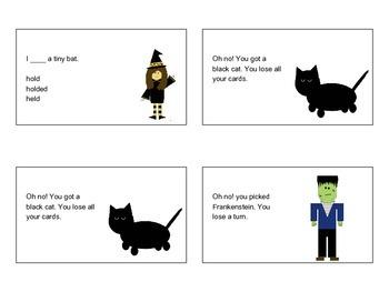 Spooky Halloween Verb Game