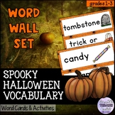 Spooky Halloween Word Wall and Word Work Activities (ESL/ELA)