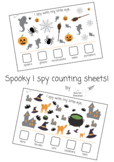 Spooky Halloween counting I spy activity sheet