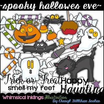 Spooky Hallows Eve Clipart