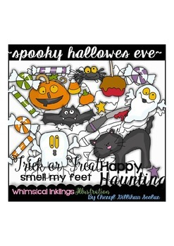Spooky Hallows Eve Clipart Collection