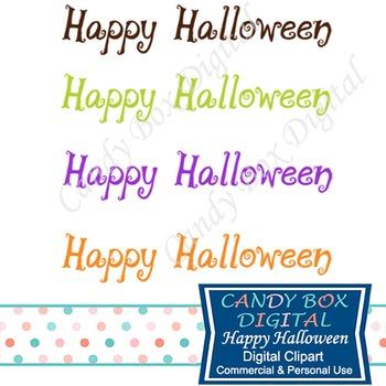 Spooky Happy Halloween Word Art