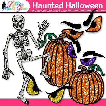 Haunted Halloween Clip Art: Spooky Graphics {Glitter Meets Glue}