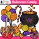 Halloween Candy Clip Art | Glitter Candied Apples, Cupcake, Lollipops, & Mints