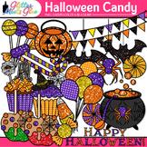 Halloween Candy Clip Art {Glitter Candied Apples, Cupcake,