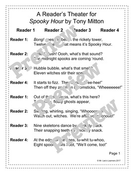 Spooky Hour - A Halloween Reader's Theater