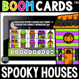 Spooky Houses Math Boom Cards™ - Halloween/Fall Distance L