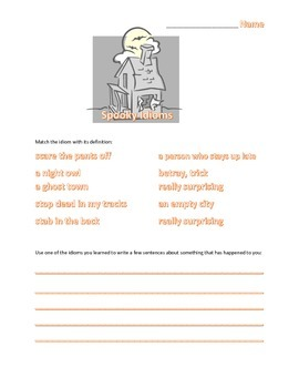 Spooky Idioms Matching