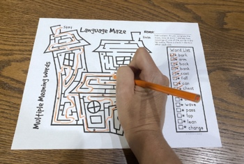Spooky Language Mazes: A vocabulary and grammer activity