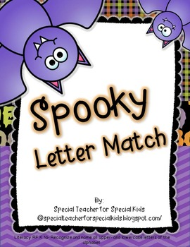 Spooky Letter Match