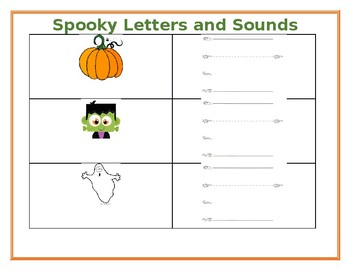 Spooky Letters and Sounds for Halloween