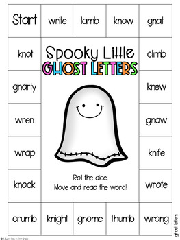 Spooky Little Ghost Letters {kn, wr, gn, mb}