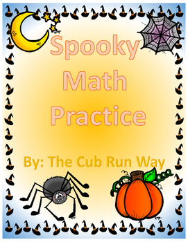 Spooky Math-Addition&Subtraction Practice for First Graders!