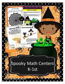 Halloween Spooky Math Centers- Addition, Subtraction,Inequ