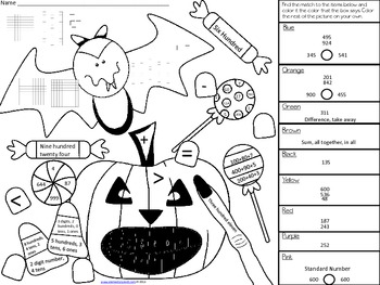 Spooky Math Coloring Problems