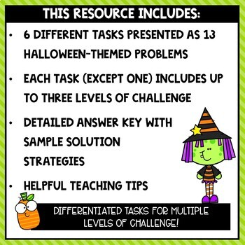 Spooky Math: Halloween Math Problem Solving Pack