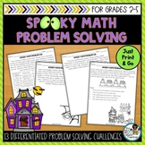 Spooky Halloween Math Problems | Math Problem Solving Activities