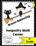 Halloween Math Center-Witch Math Inequalities- Broom Balancing Center