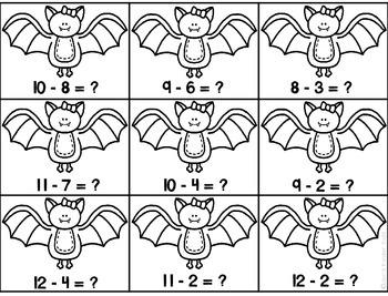 Spooky Math~ Ink Saving Math Centers!