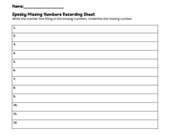Spooky Missing Numbers
