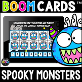 Spooky Monsters Math Boom Cards™ - Halloween/Fall Distance