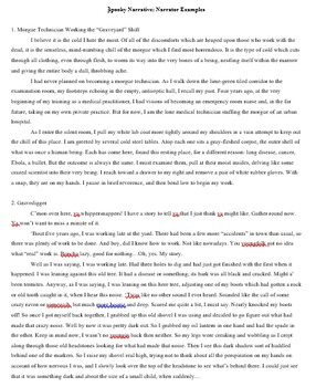 Spooky Narrative Creative Writing Assignment
