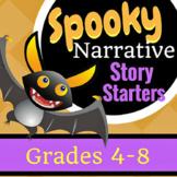 Spooky Narrative Story Starters & Plot Diagram, Grades 4-8
