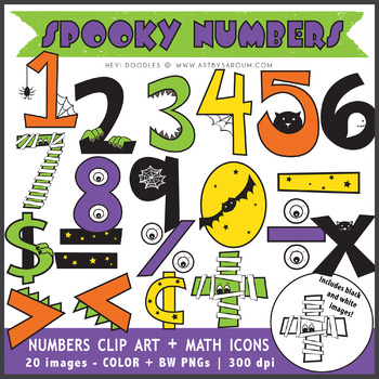 Spooky Numbers + Math Symbols