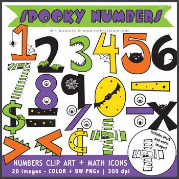 Spooky Numbers + Math Symbols