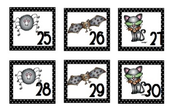 Spooky October Calendar Pieces