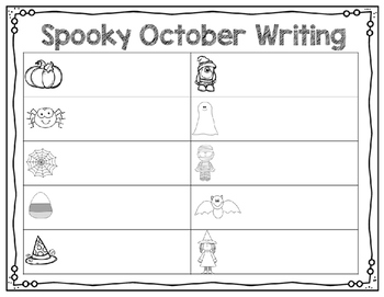October Writing Center (Differentiated for Beginning Writers)